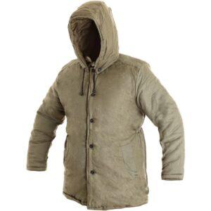 Zimska podložena jakna JUTOS kaki barve, delovna